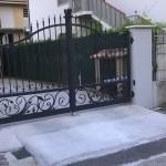 cancello con foglie